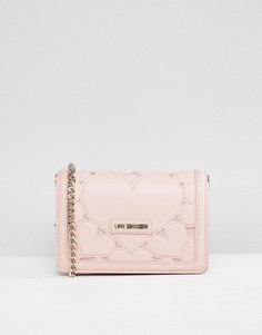 Сумка на плечо с сердцем и цепочкой Love Moschino - Розовый