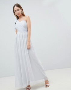 Шифоновое платье макси Lipsy - Серебряный