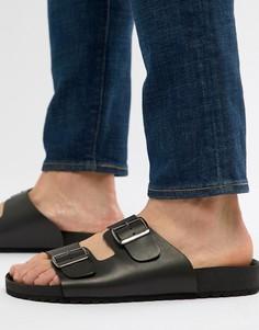 Черные сандалии с пряжками ASOS DESIGN - Черный