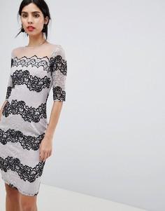 Облегающее кружевное платье Little Mistress - Черный