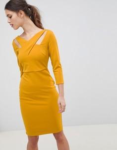 Платье миди City Goddess - Желтый