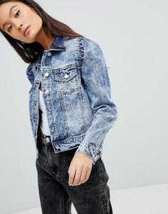 Джинсовая куртка с эффектом кислотной стирки Parisian - Синий