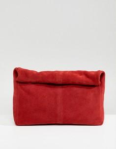 Замшевый клатч ASOS DESIGN - Красный