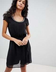 Платье с отделкой бисером Only Nete Dafne - Черный