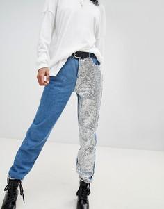 Прямые джинсы с пайетками Noisy May - Синий