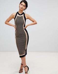 Платье миди со вставками Forever Unique - Мульти