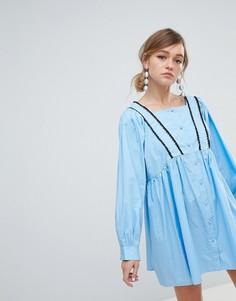 Платье на пуговицах Sister Jane - Синий