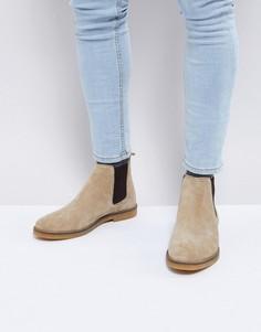 Замшевые ботинки челси Base London Ferdinand - Бежевый