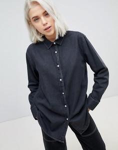 Джинсовая рубашка бойфренда Weekday - Синий