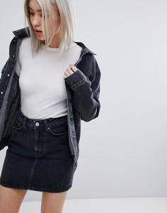 Джинсовая куртка Weekday - Черный
