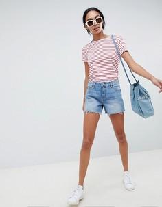 Синие свободные джинсовые шорты ASOS DESIGN - Синий