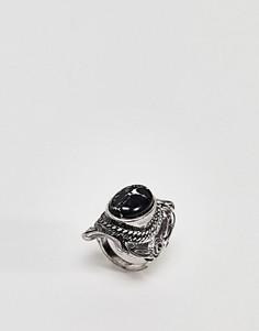 Кольцо с большим камнем ASOS DESIGN - Серебряный