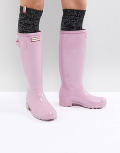Розовые резиновые сапоги Hunter Original - Розовый