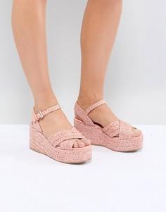 Туфли на танкетке ASOS DESIGN Thierry - Розовый