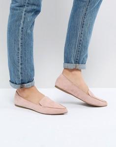 Замшевые туфли на плоской подошве Steve Madden Feather Rose - Розовый