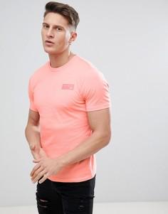 Розовая классическая футболка с принтом на спине New Balance MT81553_FIJ - Розовый