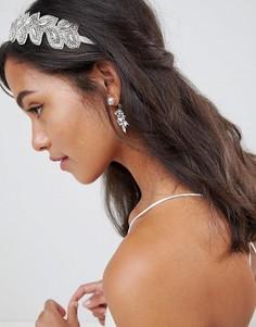 Повязка на голову с бусинами и камнями ASOS DESIGN Bridal - Серебряный