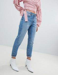 Выбеленные джинсы в винтажном стиле Only - Синий
