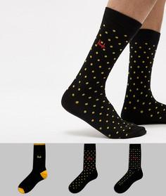 3 пары носков Pringle Selkirk - Черный