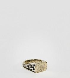 Золотистое кольцо-печатка Reclaimed Vintage Inspired эксклюзивно для ASOS - Золотой