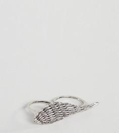 Кольцо с пером Reclaimed Vintage Inspired эксклюзивно для ASOS - Серебряный