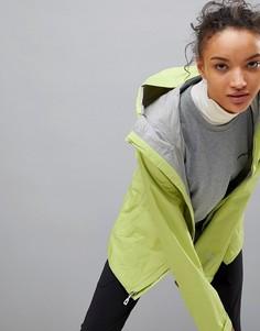 Куртка с капюшоном лаймового цвета на молнии Patagonia Torrentshell - Зеленый