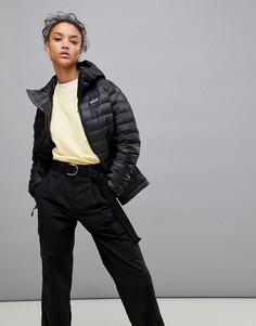 Черная пуховая куртка с капюшоном Patagonia - Черный