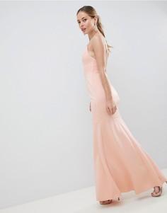 Платье макси с заниженной талией ASOS DESIGN - Розовый