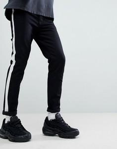 Черные джинсы скинни с кантом Criminal Damage - Черный