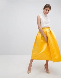 Пышная юбка миди для выпускного Closet London - Желтый