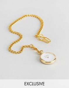 Золотистые карманные часы с дополнительным циферблатом Reclaimed Vintage Inspired - Золотой