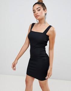 Облегающее платье с открытой спиной Boohoo - Черный