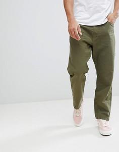 Зеленые прямые брюки Carhartt WIP Toledo - Зеленый