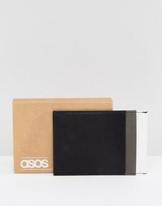 Черно-серая кожаная кредитница ASOS - Черный