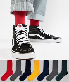 Набор из 7 пар носков ASOS DESIGN - Мульти