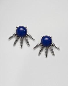 Серьги-гвоздики с камнями и шипами ASOS DESIGN - Серебряный