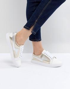 Кроссовки на шнуровке Head Over Heels by Dune Lightening - Белый