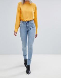 Узкие джинсы с завышенной талией Weekday Thursday - Синий