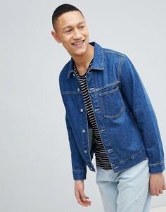 Джинсовая куртка с вышивкой Weekday - Синий