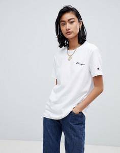 Свободная футболка с маленьким логотипом Champion - Белый