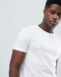 Белая эластичная футболка Celio - Белый