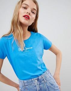 Футболка с логотипом Pepe Jeans Heritage - Синий