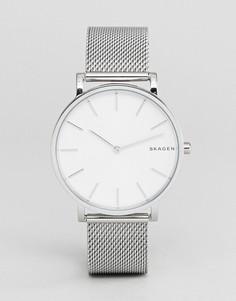 Серебристые часы 38 мм Skagen SKW6442 Hagen - Серебряный