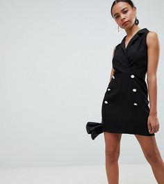 Платье мини без рукавов ASOS DESIGN Petite - Черный