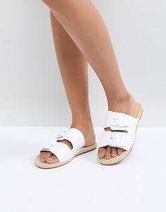 Кожаные сандалии с пряжками Suncoo - Белый