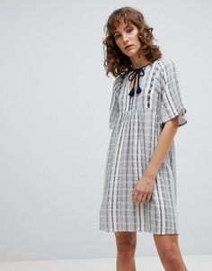 Свободное платье в полоску Suncoo - Синий