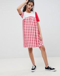 Свободное платье в клетку ASOS DESIGN - Мульти