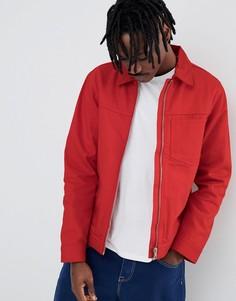 Куртка с молнией Weekday Core - Красный