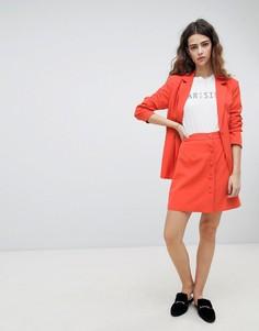 Мини-юбка на пуговицах Unique 21 - Оранжевый Unique21