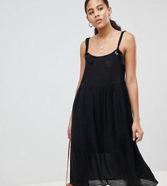 Летнее платье миди ASOS DESIGN Tall - Черный